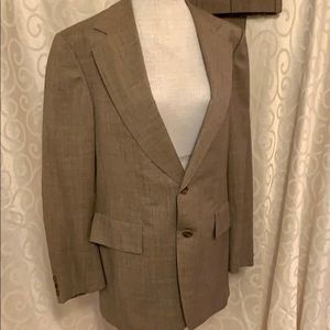 Vintage Hickey Freeman Brown Check Suit